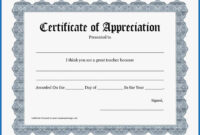 Certificate Templates: Free Templates For Certificate Of with Certificate Of Appreciation Template Free Printable