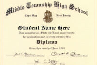 Certificate Templates   Health   Free High School Diploma within University Graduation Certificate Template