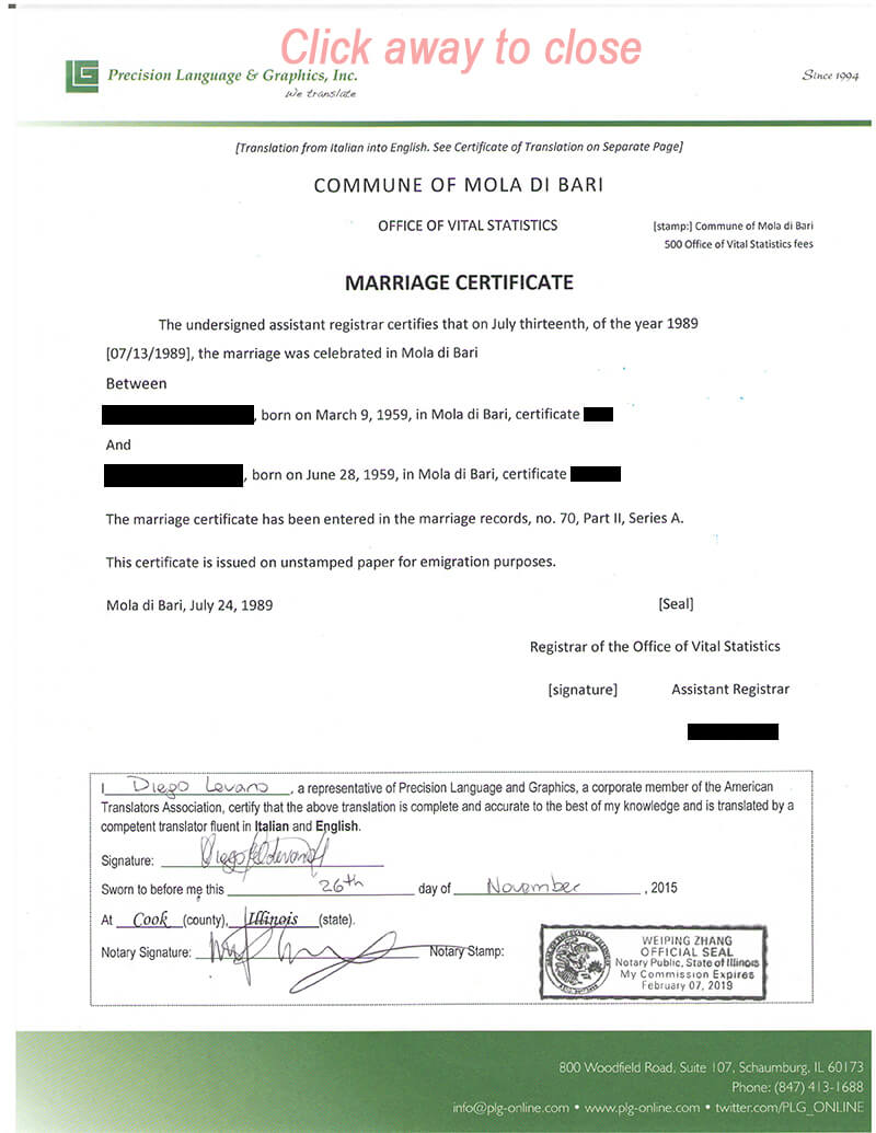 Certificate Templates: Marriage And Divorce Certificate within Marriage Certificate Translation From Spanish To English Template