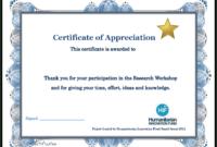 Certificate Templates: Participation Certificate Template Free in Certificate Of Participation In Workshop Template