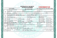 Certificates. Amazing Fake Birth Certificate Template with Birth Certificate Fake Template