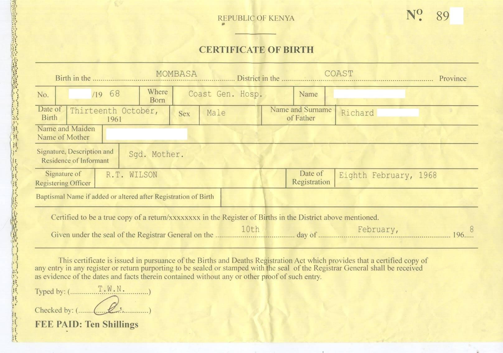Certificates: Amazing Fake Birth Certificate Template with Editable Birth Certificate Template