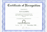 Certificates. Appealing Recognition Certificate Template regarding Certificate Of Recognition Word Template