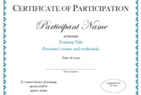 Certificates. Best Certificate Of Participation Template With Certificate Of Participation Template Ppt