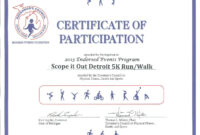 Certificates. Best Certificate Of Participation Template Within Certificate Of Participation Template Ppt