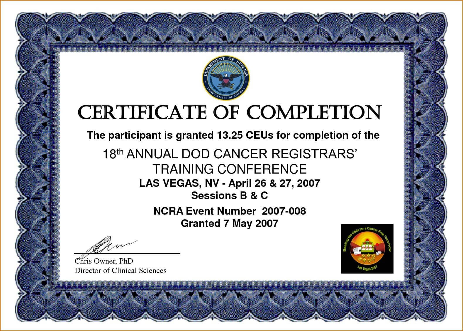Certificates. Best Completion Certificate Template Designs intended for Free Training Completion Certificate Templates