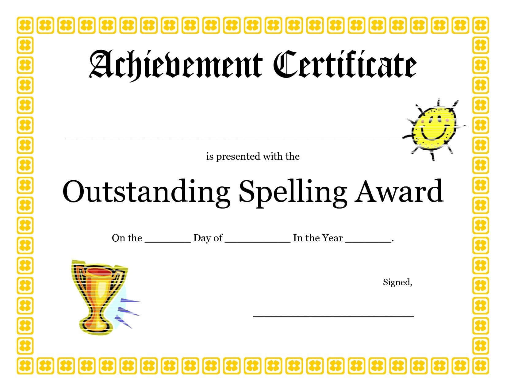 Certificates: Breathtaking First Place Certificate Template With First Place Award Certificate Template