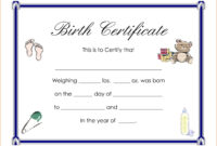 Certificates. Enchanting Birth Certificate Templates Designs pertaining to Birth Certificate Fake Template