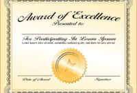 Certificates. Enchanting Sample Award Certificates Templates inside Sample Award Certificates Templates