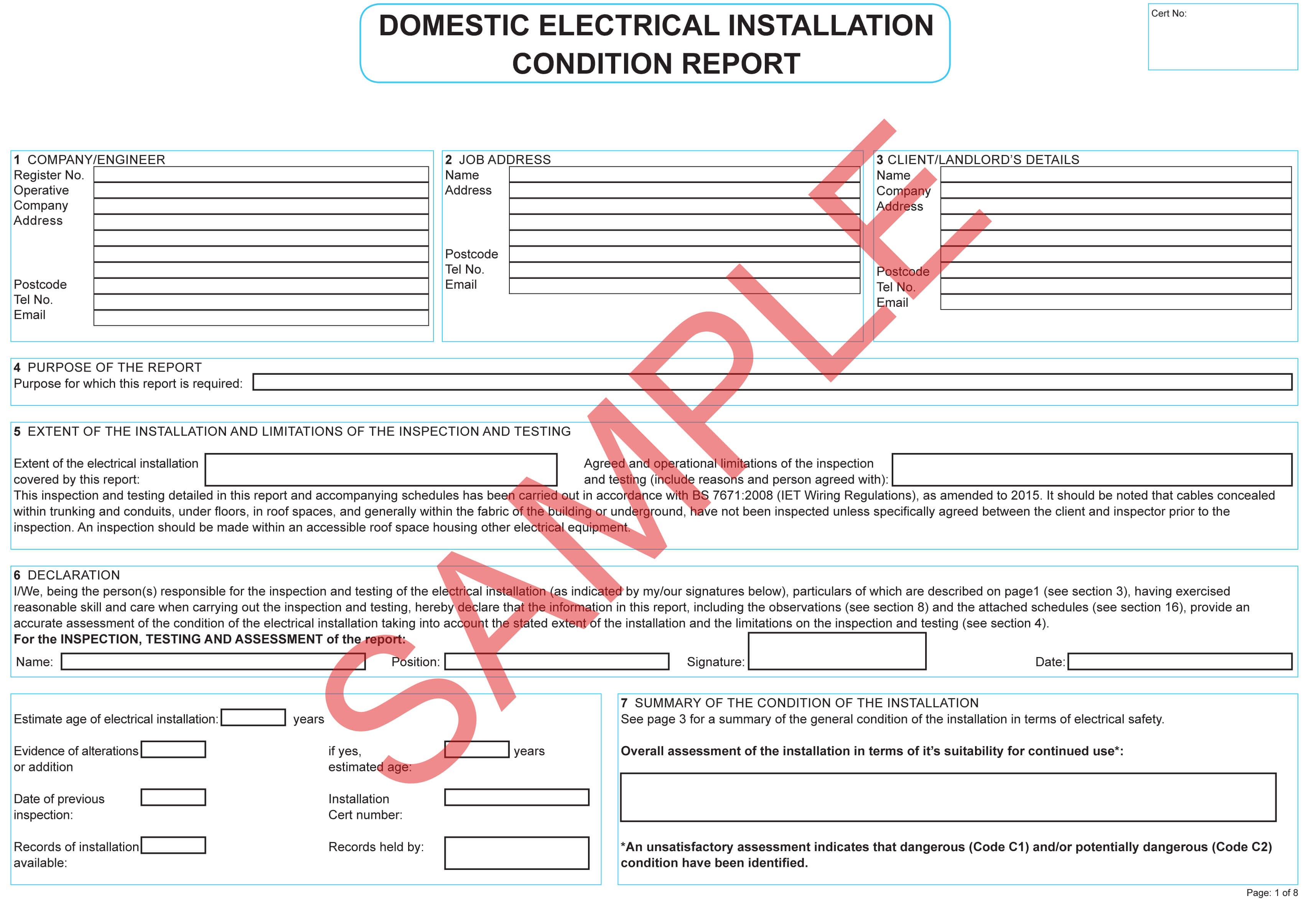 Certificates | Everycert For Electrical Minor Works within Minor Electrical Installation Works Certificate Template
