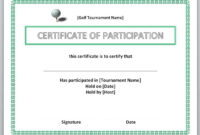 Certificates. Excellent Certificate Templates For Word regarding Golf Certificate Templates For Word