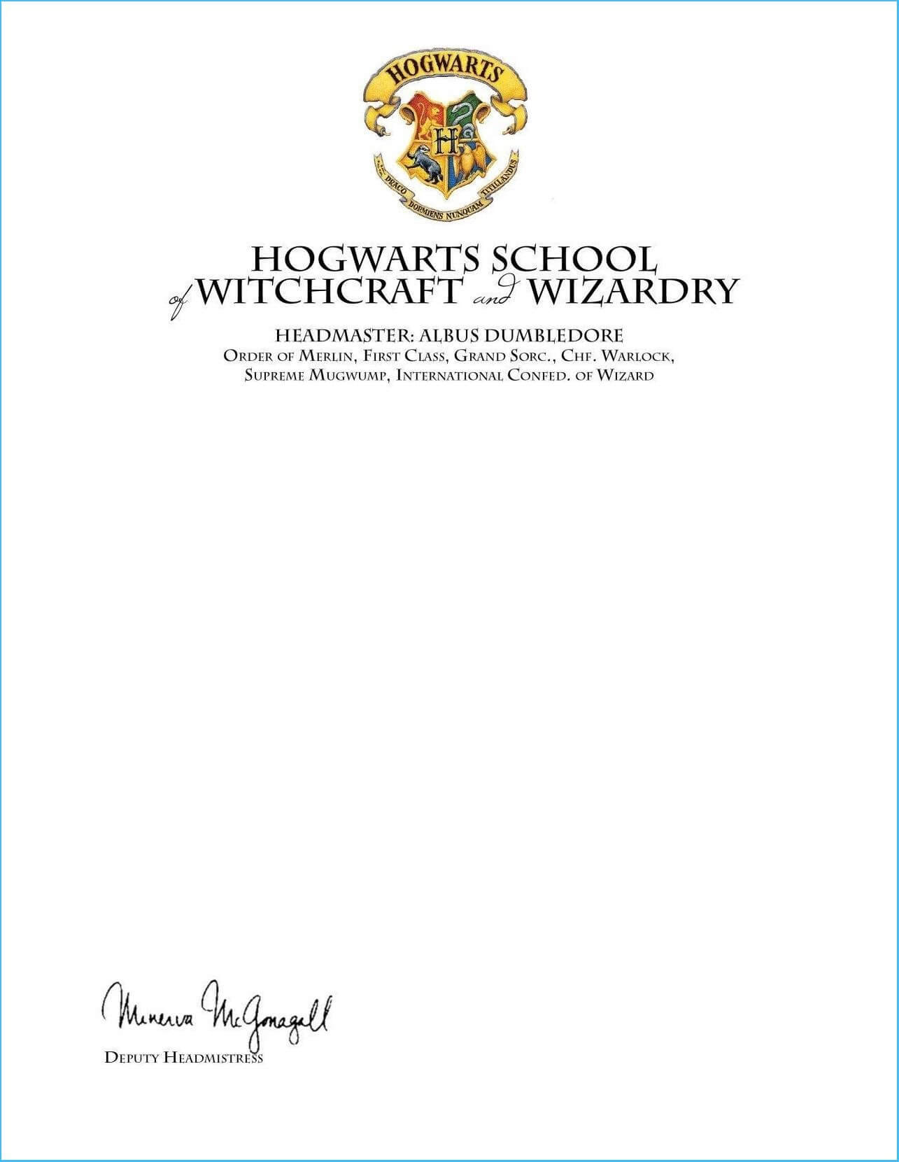 Certificates: Excellent Hogwarts Certificate Template Ideas Inside Harry Potter Certificate Template