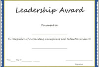 Certificates. Exciting Award Certificate Template Designs throughout Leadership Award Certificate Template