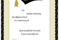 Certificates: Exciting Certificate Graduation Template in Free Printable Graduation Certificate Templates