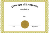 Certificates. Inspiring Recognition Certificate Template for Employee Recognition Certificates Templates Free