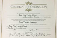 Certificates. Latest Ordination Certificate Template Example intended for Certificate Of Ordination Template