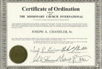 Certificates: Latest Ordination Certificate Template Example regarding Ordination Certificate Template