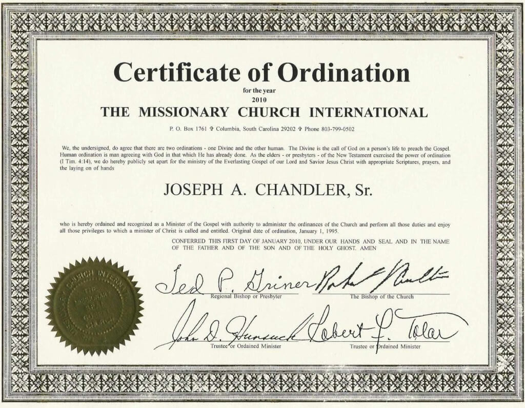 Certificates: Latest Ordination Certificate Template Example throughout Certificate Of Ordination Template