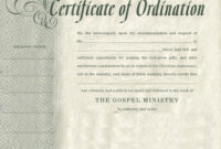 Certificates. Latest Ordination Certificate Template Example with regard to Certificate Of Ordination Template