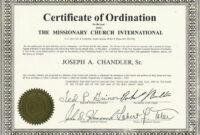 Certificates: Latest Ordination Certificate Template Example within Free Ordination Certificate Template