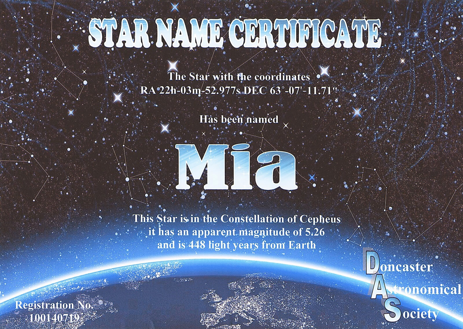 Certificates: Latest Star Naming Certificate Template Ideas With Star Naming Certificate Template