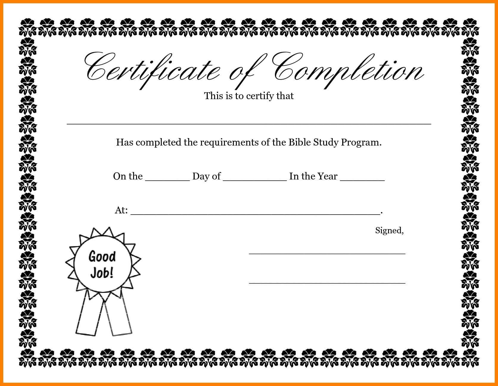 Certificates. New Free Completion Certificate Templates For within Free Completion Certificate Templates For Word