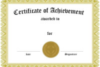 Certificates. Outstanding Blank Award Certificate Template Intended For Template For Certificate Of Award