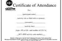 Certificates. Popular Attendance Certificate Template Word inside Attendance Certificate Template Word