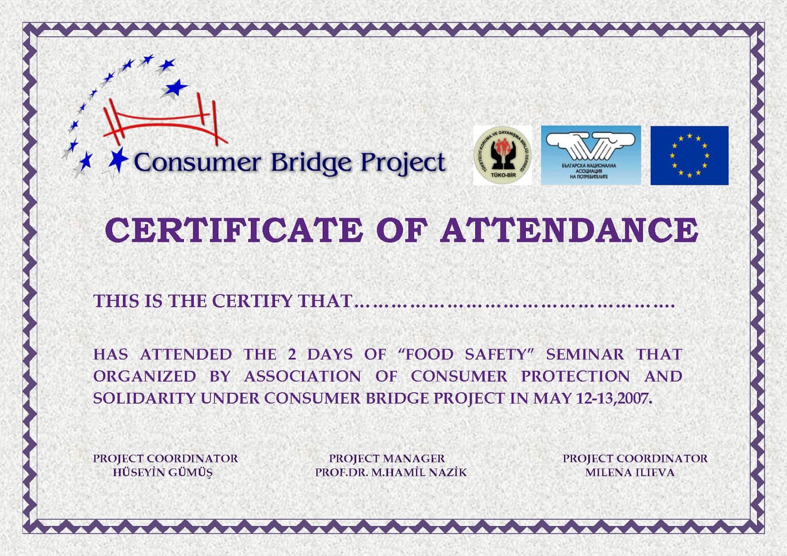 Certificates: Popular Attendance Certificate Template Word with regard to Perfect Attendance Certificate Template