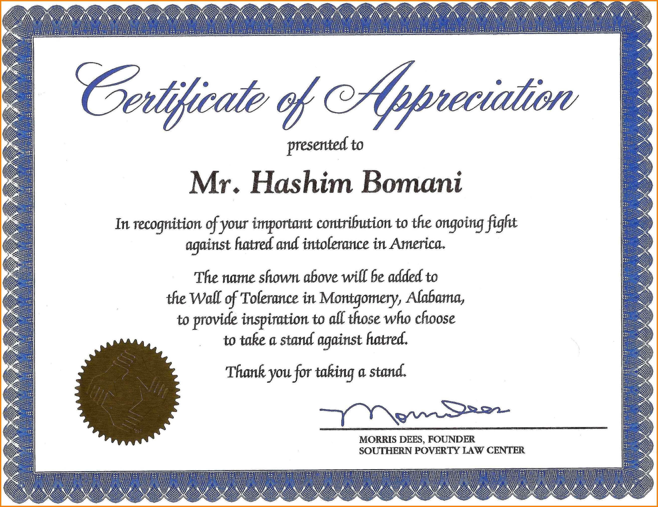 Certificates. Popular Certificate Of Recognition Template Throughout Sample Certificate Of Recognition Template