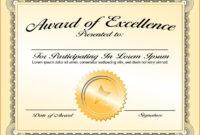 Certificates: Simple Award Certificate Templates Designs in First Place Award Certificate Template