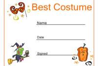 Certificates. Simple Halloween Costume Certificate Template for Halloween Certificate Template