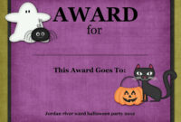 Certificates: Simple Halloween Costume Certificate Template regarding Halloween Certificate Template