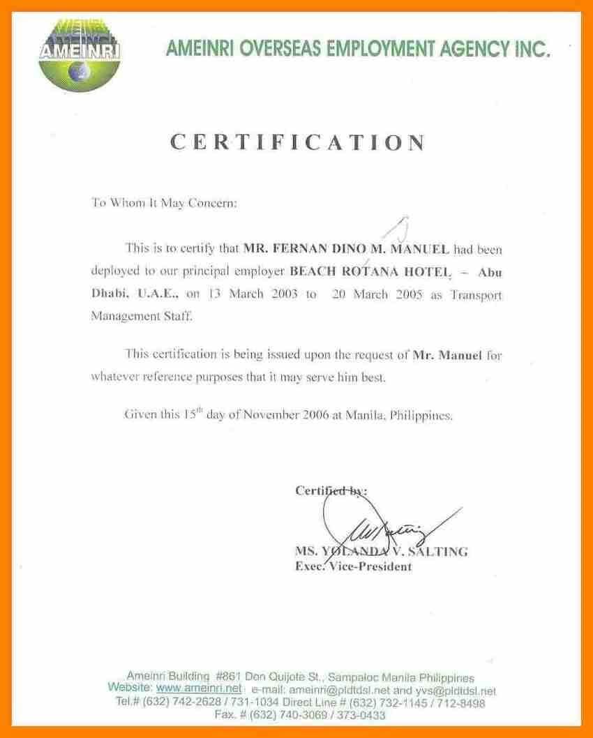 Certificates. Stunning Certificate Of Employment Template with Certificate Of Service Template Free