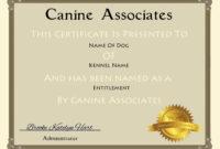 Certificates. Terrific Service Dog Certificate Template with regard to Service Dog Certificate Template