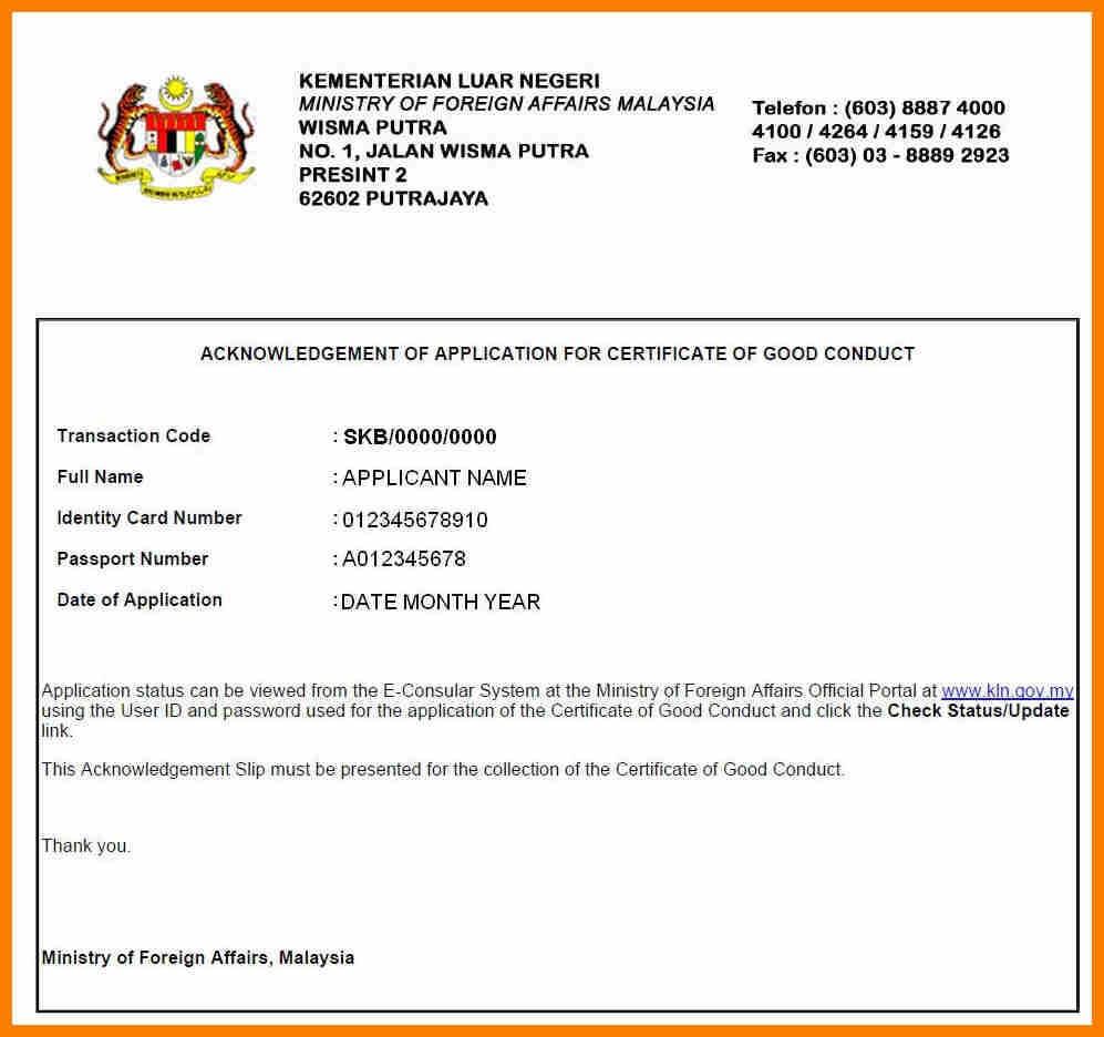 Certificates. Wonderful Good Conduct Certificate Template pertaining to Good Conduct Certificate Template