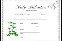 Certificates. Wonderful Official Birth Certificate Template throughout Baby Dedication Certificate Template