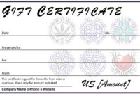 Certificates. Wonderful Tattoo Gift Certificate Template throughout Tattoo Gift Certificate Template