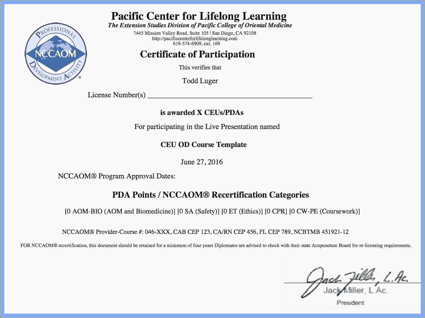 Ceu Certificate Of Completion Template With Free Printable pertaining to Ceu Certificate Template