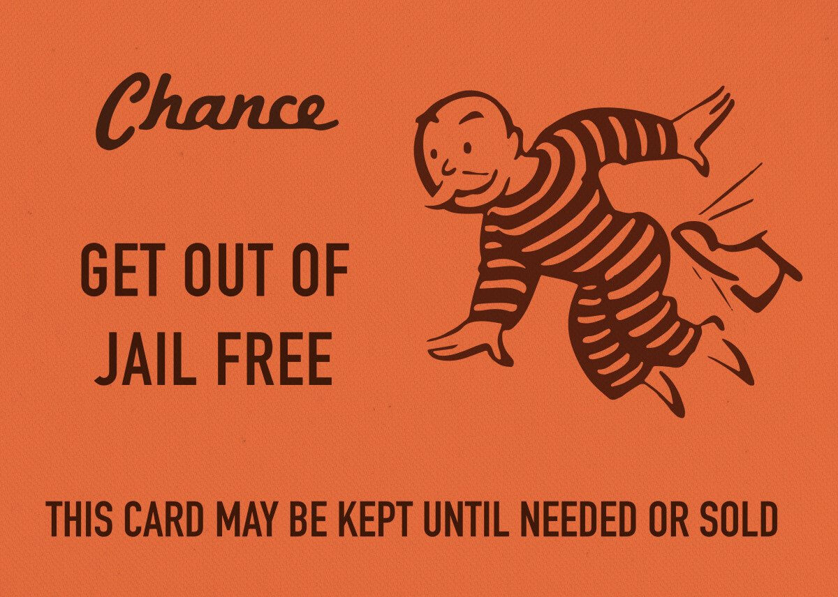 Chance Card Vintage Monopoly G Vintage Posters Poster With Get Out Of Jail Free Card Template