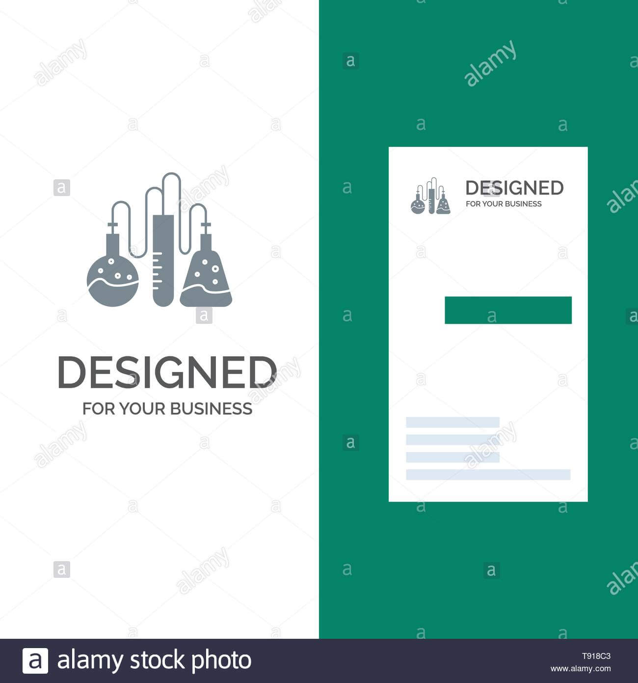 Chemical, Dope, Lab, Science Grey Logo Design And Business with regard to Dope Card Template