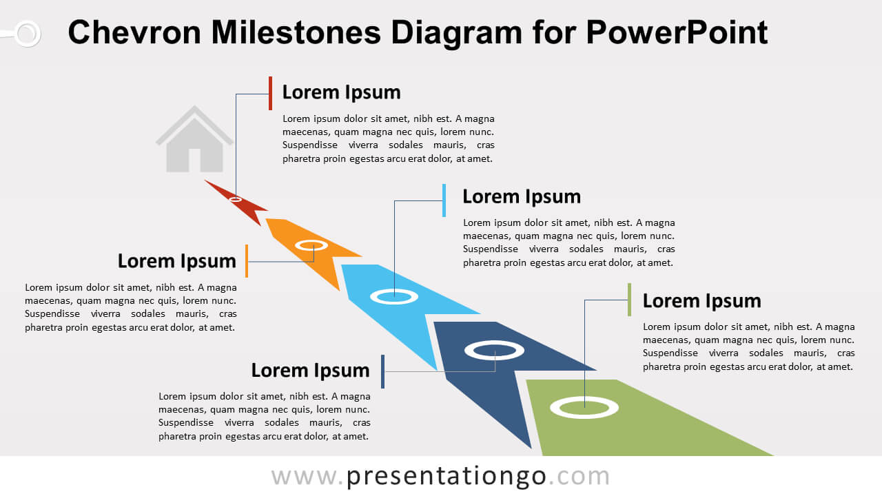 Chevron Milestones Diagram For Powerpoint - Presentationgo with Powerpoint Chevron Template