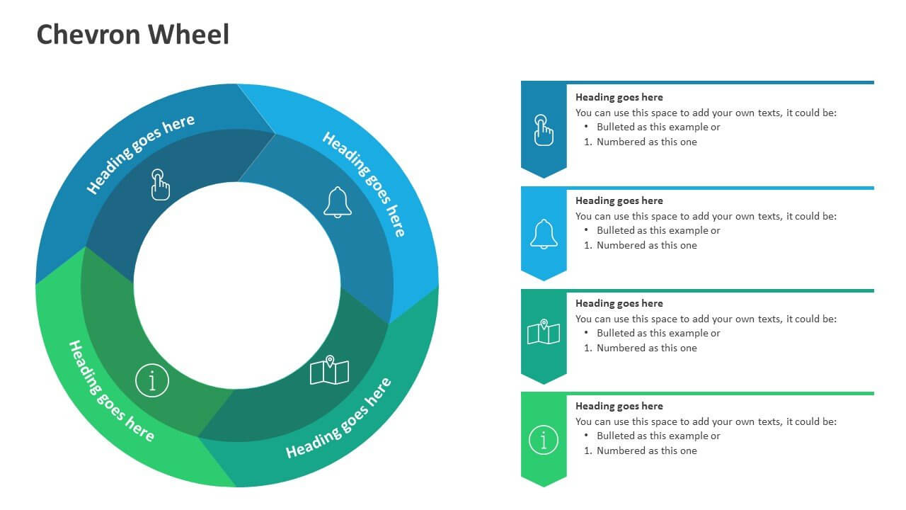 Chevron Wheel Diagram pertaining to Powerpoint Chevron Template