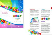 Child Care Brochure Template 7 inside Daycare Brochure Template