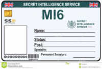 Child Id Card Template Free Awesome Fake Id Templates Intended For Mi6 Id Card Template