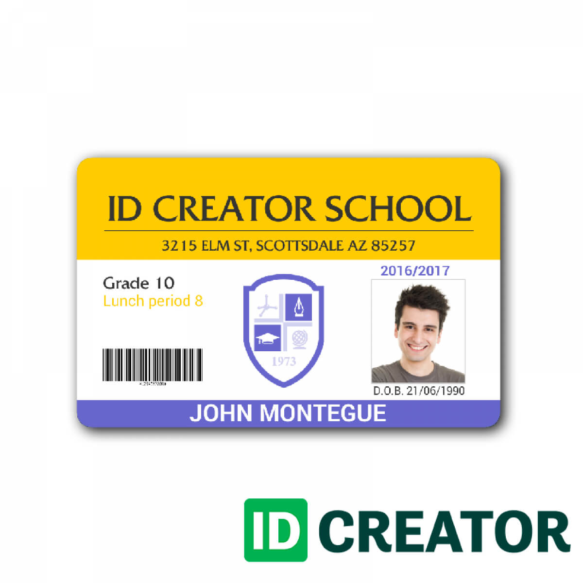 Child Id Card Template In 2019 | Id Card Template, School Id In High School Id Card Template