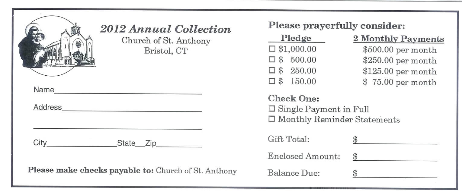 Childhood Cancer Foundation Inc Pledge Card For 2011 throughout Church Pledge Card Template