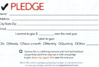Childhood Cancer Foundation Inc Pledge Card For 2011 with regard to Donation Cards Template