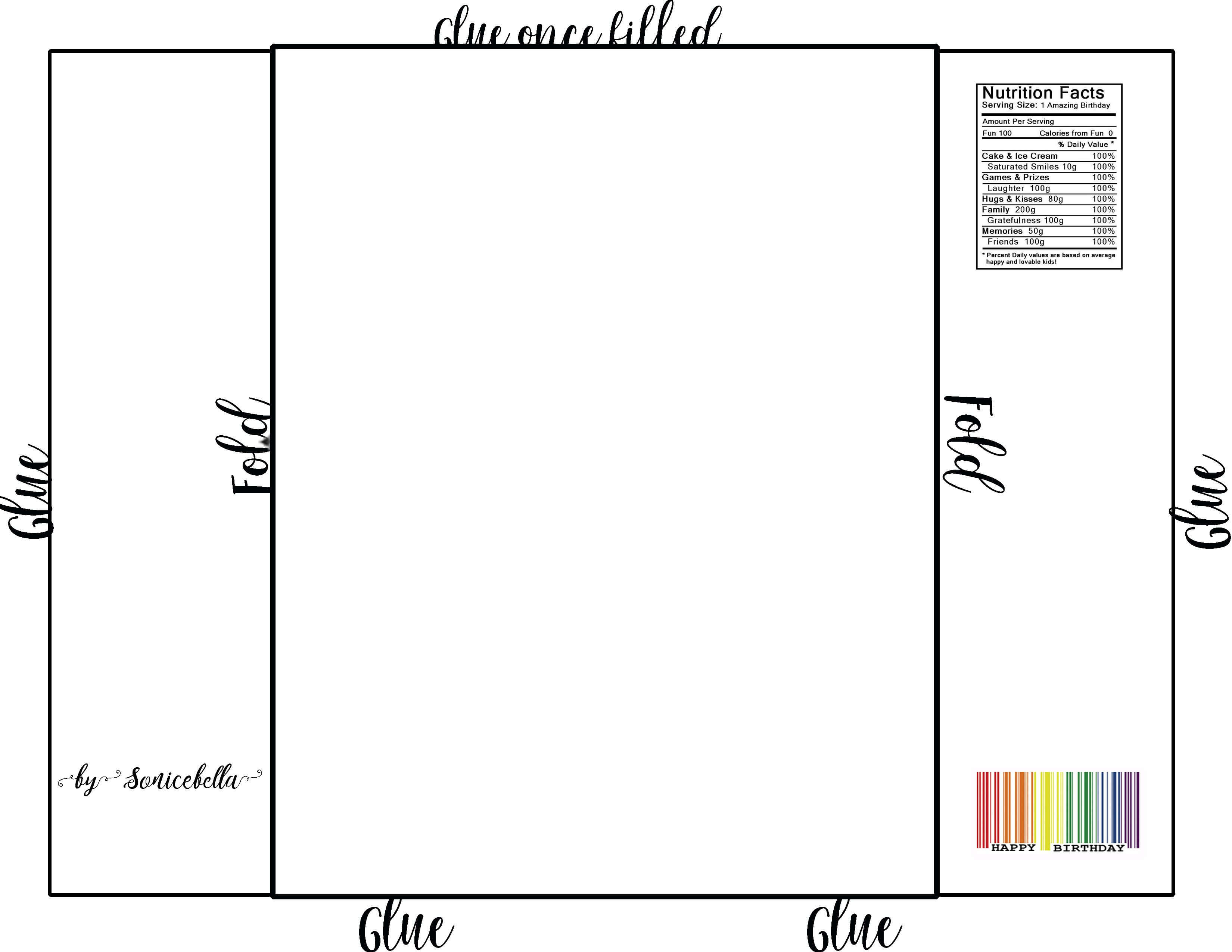 Chip Bag Template / Free Enjoy ! | Chip Bags, Candy Bar for Free Blank Candy Bar Wrapper Template