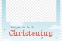 Christening Png Free – Baptism Invitation Template Png intended for Christening Banner Template Free
